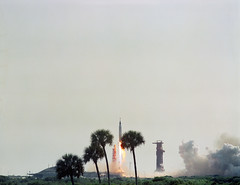 The launch of Mercury-Atlas 9 on May 15 1963 carrying astronaut L. Gor