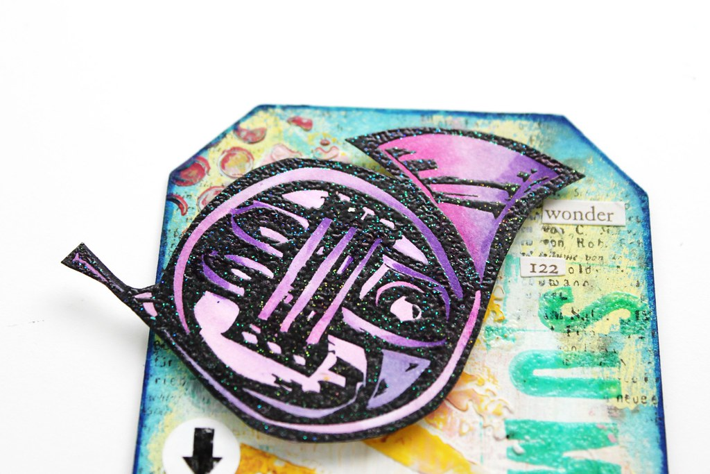 Meihsia Liu Simply Paper Crafts Mixed Media Tag Summer Fun Music Instrument Simon Says Stamp Tim Holtz 2