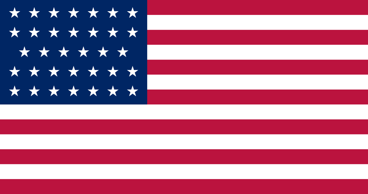 Flag of the United States of America (July 4, 1861 to July 3, 1863) - 34 stars