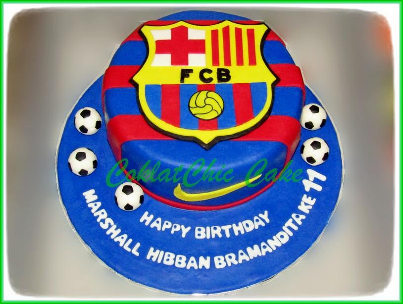Cake FC Barcelona MARSHALL 15 cm