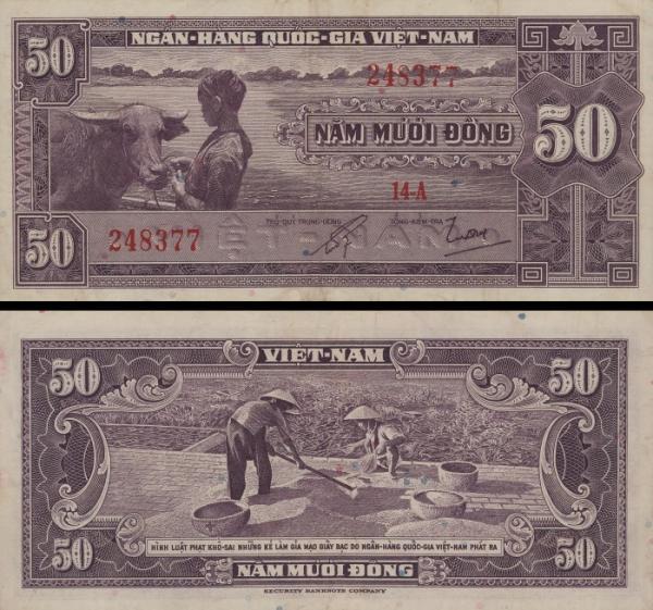 50 Dong Južný Vietnam 1956, P7a