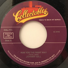 JOHNNY GILL:RUB YOU THE RIGHT WAY(LABEL SIDE-A)