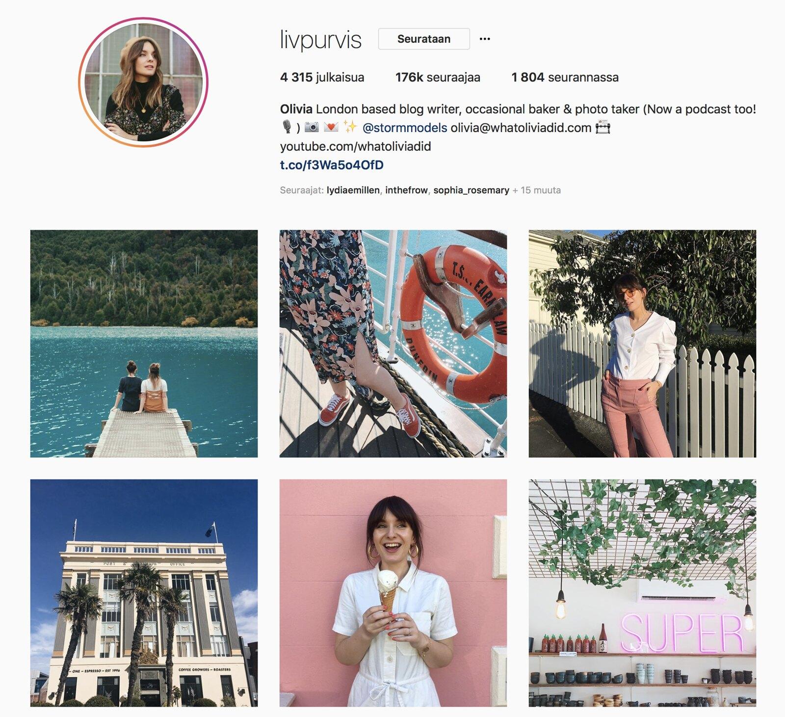 Inspiroivimmat Instagramit Olivia Purvis