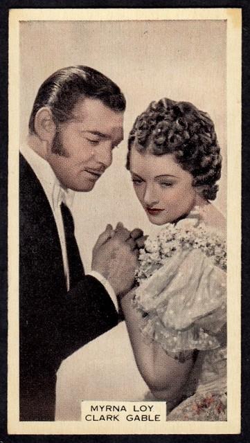 Cigarette Card - Myrna Loy and Clark Gable