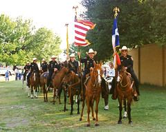Tarrant County Sheriff Posse Before Mayfest Parade, 1996