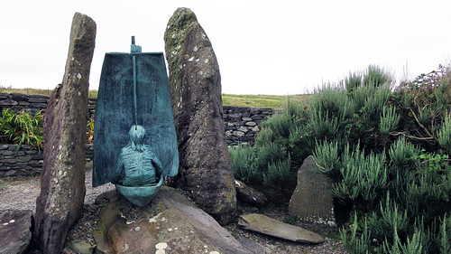 Famine boat sculpture on Slea Head Drive on our Dingle Peninsula Drive, part of Ireland's Wild Atlantic Way