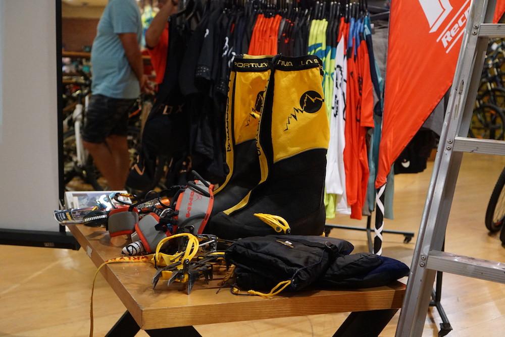 Alpine climbing gear at Stuart Leonard's talk at R.O.X. Manila