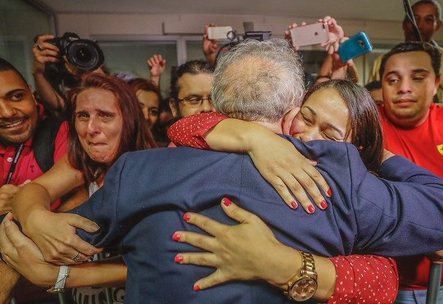 Lula agradece solidariedade popular no Sindicato dos Metalúrgicos do ABC - Créditos: Ricardo Stuckert