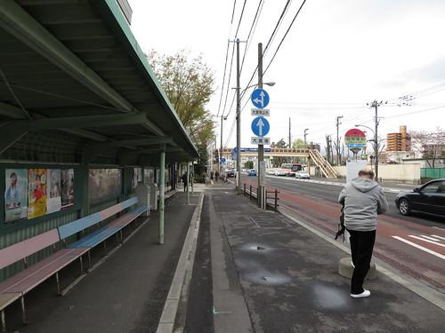 福島競馬場近くの競馬場前バス停