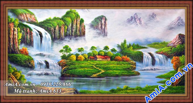 Tranh phong cảnh thiên nhiên Trung Quốc phong thủy treo tường