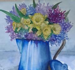 Ершова Екатерина (рук. Барышева Наталья Николаевна) - Подарок маме (цветы в кувшине)