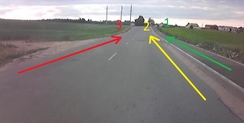Как неправильнее проехать велосипедисту
