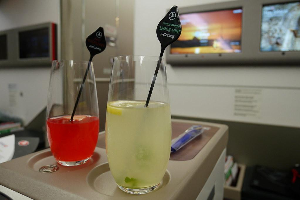 土耳其航空商務艙迎賓飲料