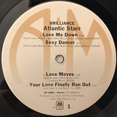 ATLANTIC STARR:BRILLIANCE(LABEL SIDE-A)