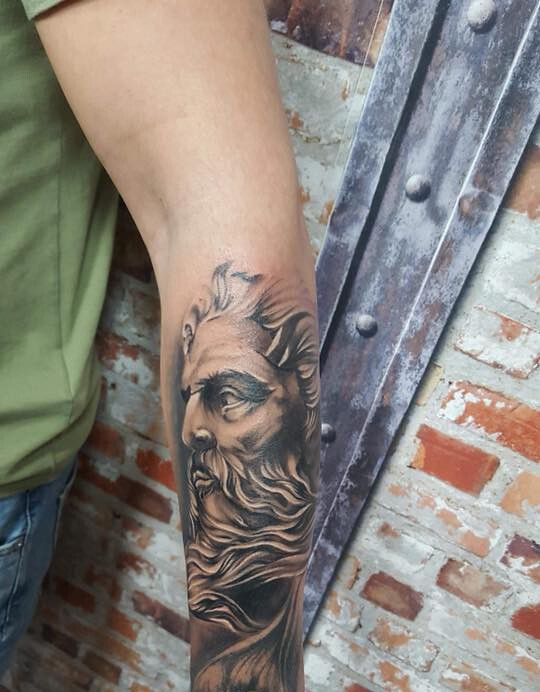 Greek God Half Sleeve Tattooed By Tomas Adrenalin Park Custom