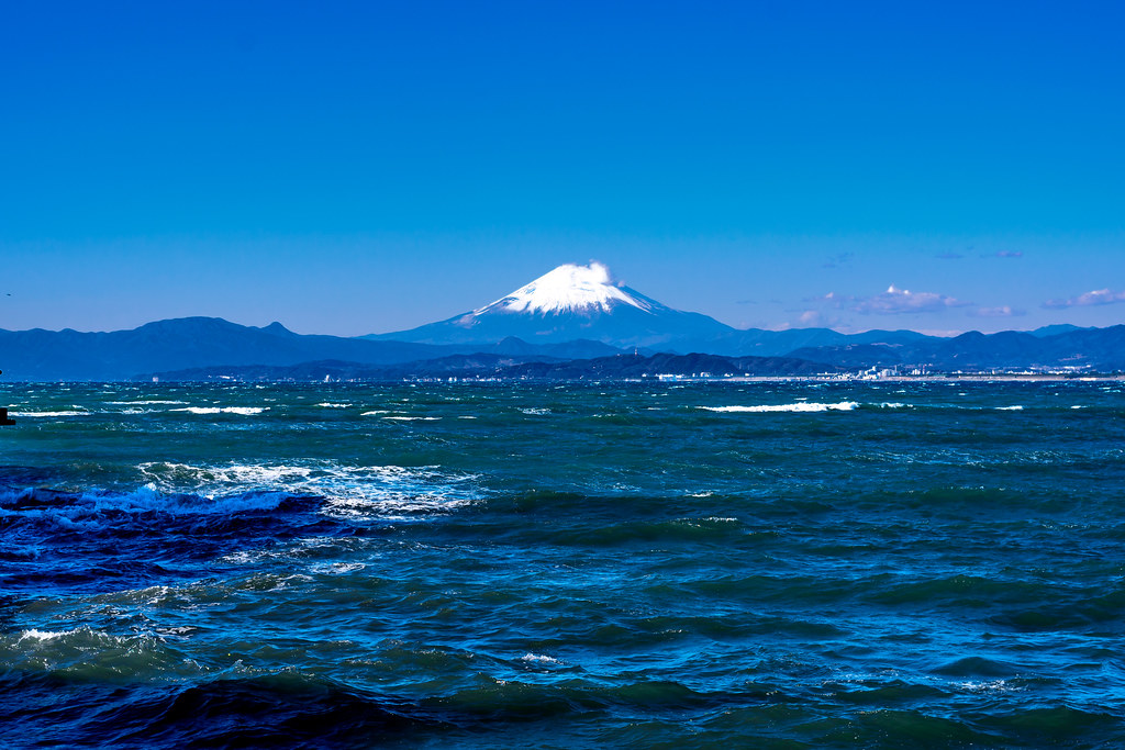 Mt. Fuji view from Enoshima Iland
