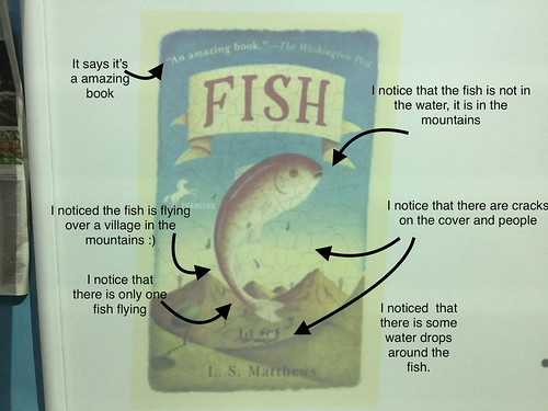 "What we think about the ""fish""cover. Abigail, Dahlia and Rebecca A.D.R"