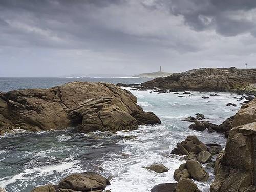 Tras la carrera de la mañana, sacando fotos de #Coruña desde ángulos distintos. #mar #nubes #clouds #sea #ocean #océano #atlanticocean #olympus #sundayphoto