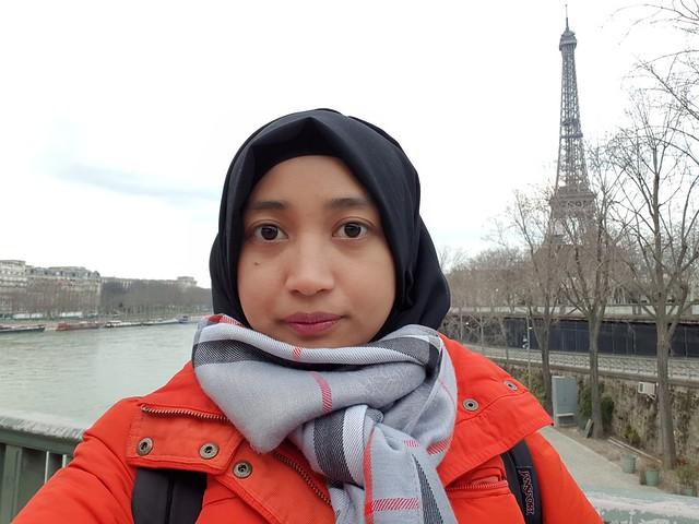Kamera selfie Galaxy S9 Plus (Liputan6.com/ Agustin Setyo W)