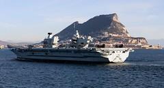 HMS Queen Eizabeth arriving in Gibraltar