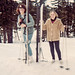 Janice Wohleb and Mary Lou skiing at Mt Bachelor near Bend, Oregon circa 1966(?) by mharrsch