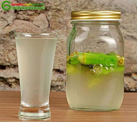 Uống nước đậu bắp ngâm có thể giúp hạ đường huyết