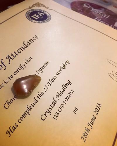 IFA 的香薰水晶課。水晶識用其實好好用