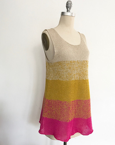 Ombre Tank Redux by Espace Tricot