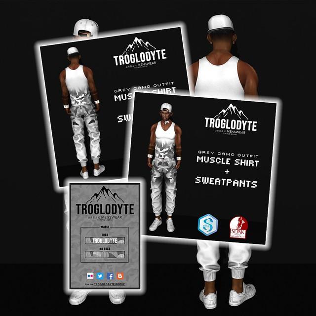TROGLODYTE - Grey Camo Outfit
