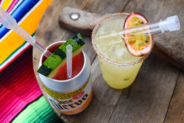 Watermelon and Passion Fruit Margaritas at Taste of London #passionfruit #watermelon #margarita #tequila #cocktail #tasteoflondon