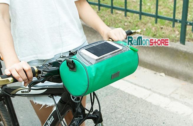 Túi trống đeo chéo - treo xe đạp xe máy SAFEBET chống nước 90% - Xanh lơ