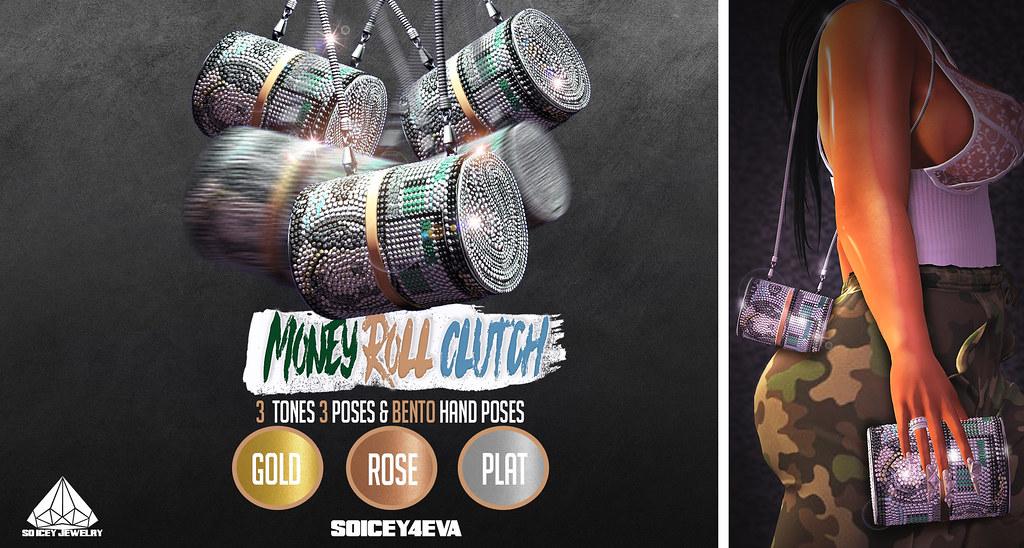 💎SOICEY4EVA💎 Money Roll Clutch @DubaiEvnt