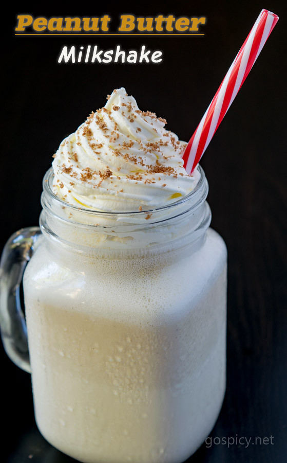 Peanut Butter Milkshake Recipe by GoSpicy.net