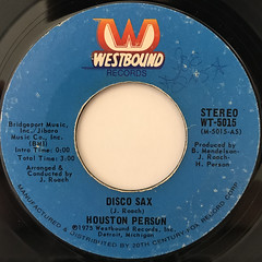 HOUSTON PERSON:DISCO SAX(LABEL SIDE-A)