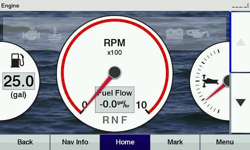 How to obtain Mercury outboard engine data on a Garmin unit??