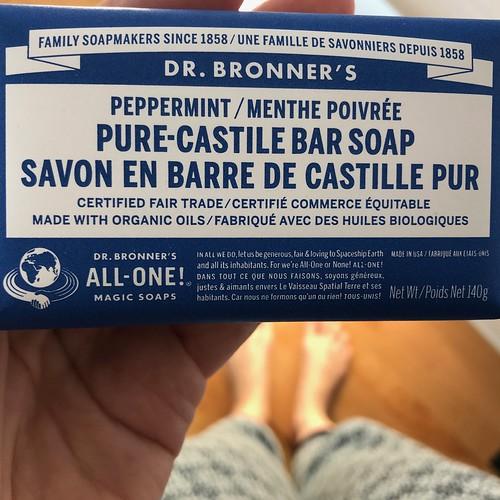Dr.Bronner's peppermint soap