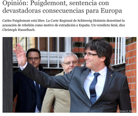 18d07 Puigdemont, sentencia con devastadoras consecuencias para Europa Uti 465