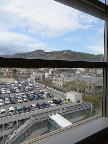 福島競馬場のサザンクロスからの景色