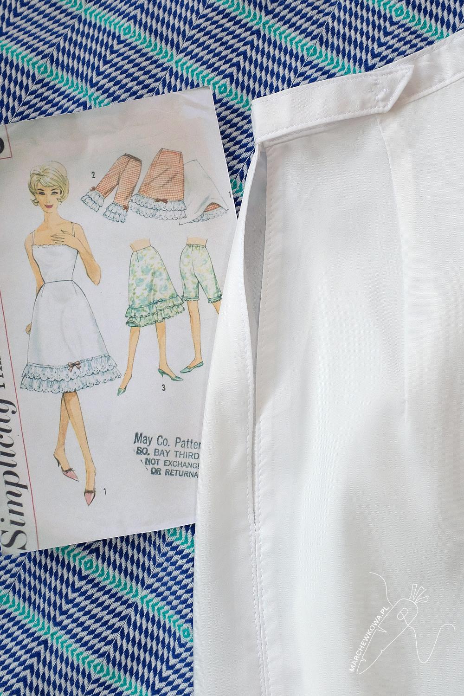 marchewkowa, blog, szycie, sewing, rękodzieło, handmade, moda, styl, vintage, retro, repro, 1960s, Wrocław szyje, w starym stylu, halka, slip, petticoat, Ikea, Simplicity