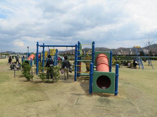 福島競馬場の内馬場の公園