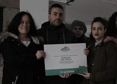 La protectora de animales Huellas del Sella recibe el premio de Doce Lluches