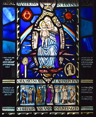 memorial window to Margaret Agnes Rope, Sister Margaret of the Mother of God (Margaret Agnes Rope, adapted by Margaret Edith Aldrich Rope, 1954)