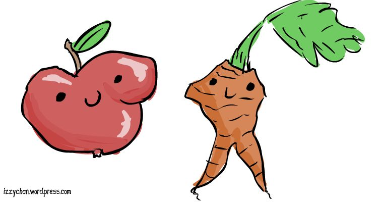 ugly apple and carrot