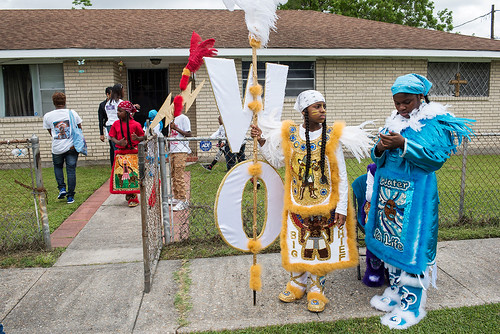 Wild Opelousas get ready for the West Fest parade on April 23, 2017. Photo by Ryan Hodgson-Rigsbee www.rhrphoto.com