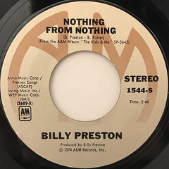 BILLY PRESTON:NOTHING FROM NOTHING(LABEL SIDE-A)