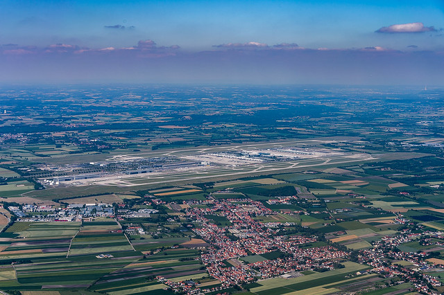 Flying over Munich : Germany