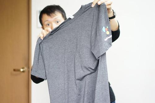 GoogleからTシャツが届いた