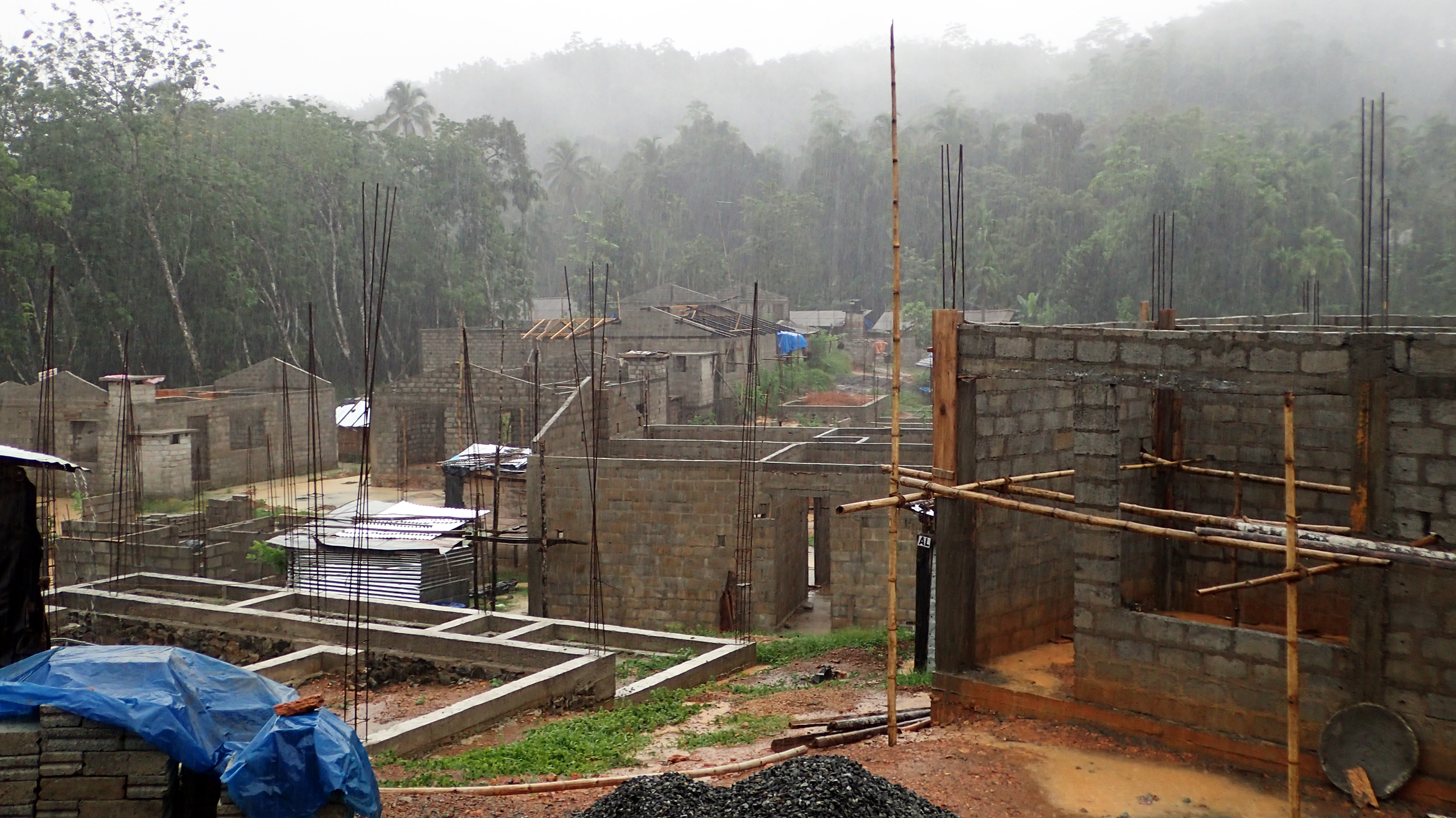 Photo of new flood resilient buildings in Sri Lanka