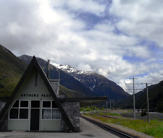 Arthurs Pass Train Station - South Island, New Zealand