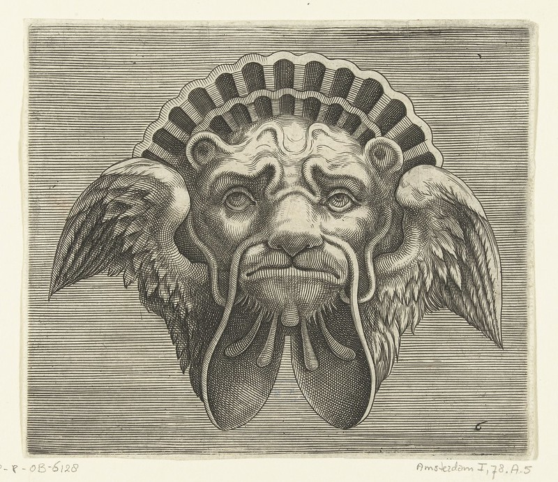 005-Flemish mask designs in the grotesque style 1555- Cornelis Floris- Rijksmuseum